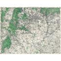 Mapa okolí Brna včetně tzv. Hitlerovy dálnice (1942)
