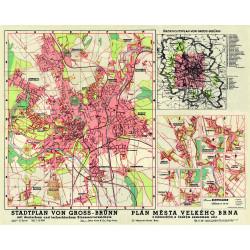Stadtplan von Gross Brünn (1943)