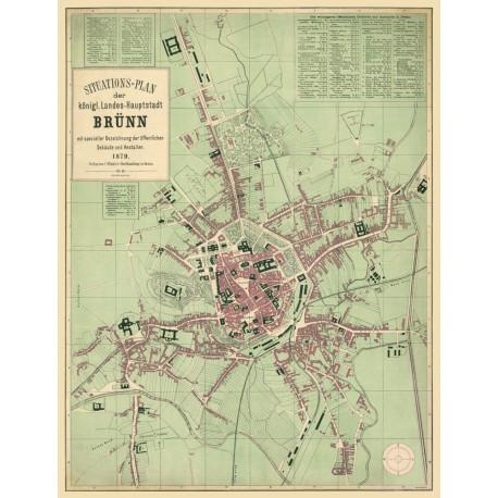 Situations-plan der königl. Landes-Hauptstadt Brünn (1879)
