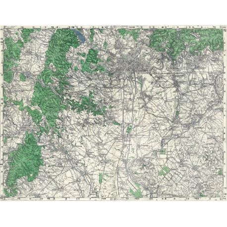 Mapa okolí Brna z období 2. světové války
