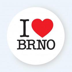 Samolepka I Love Brno