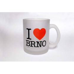 Hrnek I Love Brno - skleněný