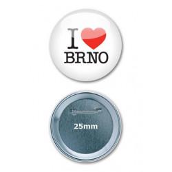 Placka I LOVE BRNO - malá