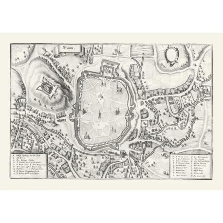 Mapa Brna cca 1650