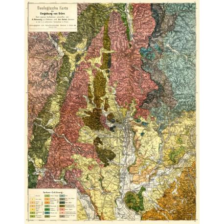 Geologische Karte der Umgebung von Brünn (1883)