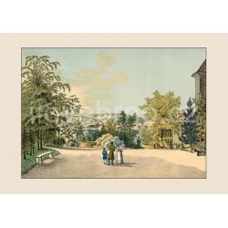 Pohled z Františkova na Staré Brno (1825)