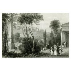 Pohled na Špilberk (1850)