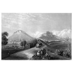 Brno a viadukt severní dráhy (1860)
