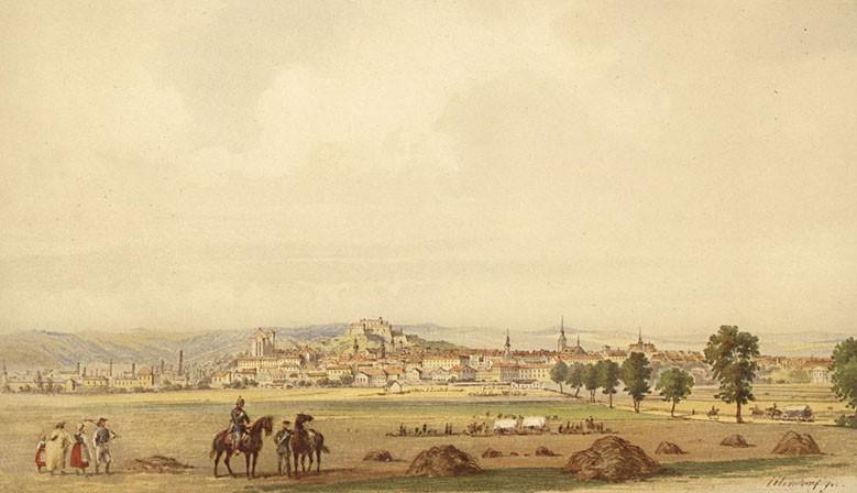 Veduta - historický pohled na Brno